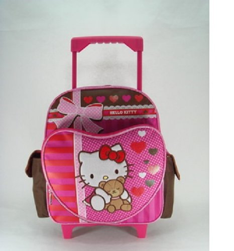Small Rolling Backpack - Hello Kitty - Super Sweet Hello Kitty Rolling Backpacks