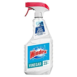 Windex Vinegar Glass and Window Cleaner Spray Bottle, Bottle Made from 100% Recycled Plastic, 23 fl oz
