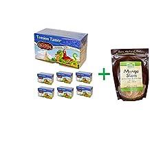 Celestial Seasonings, Herbal Tea, Tension Tamer, Caffeine Free, 20 Tea Bags, 1.5 oz (43 g)( 7 PACK ) + Now Foods, Real Food, Mango Slices, 10 oz (284 g)