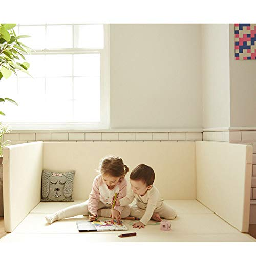 The Elixir Eco Green Baby Bedding Bumper Mat, Floor Mat + Guard, BPA Free Baby Play Mat with Fence