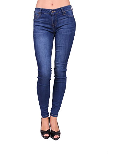 Celebrity Pink Women Skinny Jeans with Fake Front Pockets and Gold Stitch 13 Medium (Fake Gold Fronts)