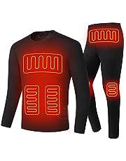 LIUHD Heating Fleece Lined Thermal Jacket Electric Thermal Underwear Cycling Jacket Men Women Heated Suit USB Electric Thermal Underwear