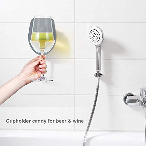 Wine glass holder for bath & shower