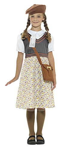 7-9 Years Girls Evacuee School Girl Costume -