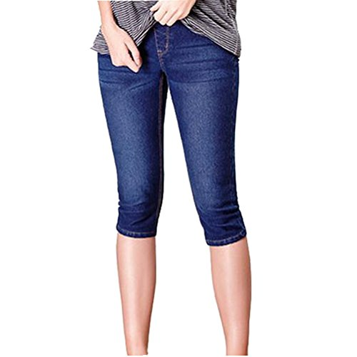 GIFTPOCKET Women's Low Rise and High Waist Demin Maternity Jeans Shorts