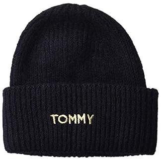 Tommy Hilfiger Damen Effortless Beanie Strickmütze, Blau (Blue Cjm), One Size (Herstellergröße:OS) 1