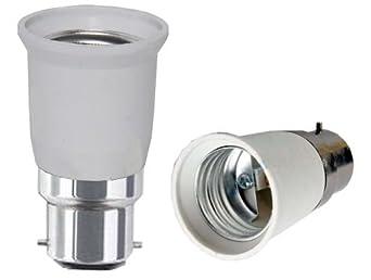 B22 to E27 Lamp Light Bulb Base Socket Converter Adaptor Lamp ...