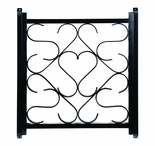 Deluxe Door - Camco 43993 Deluxe Screen Door Grille-Black