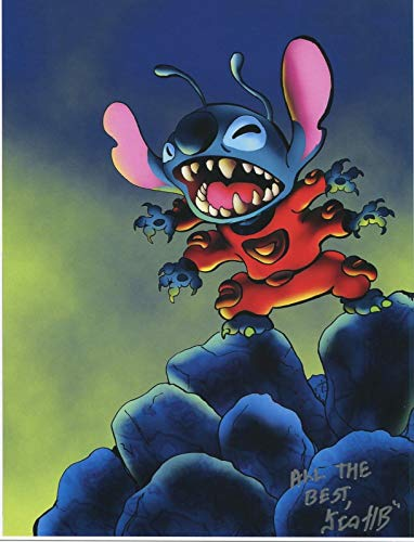 Lilo & Stitch Space Alien Signed Autograph 8.5x11 Cute Tribute Print W COA PJ from PJ's Collectibles