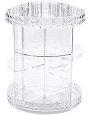 ZQAZ 360-Degree Acrylic Djustable Multi- Function Cosmetic Storage Holder Rotating Makeup Organizer