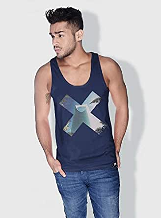 Creo Riyadh X City Love Tanks Tops For Men - L, Blue