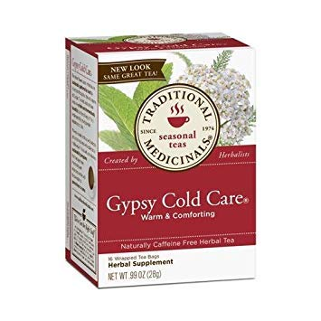 Care Gypsy Cold (2 Packs of Traditional Medicinals Gypsy Cold Care Herbal Tea - Caffeine Free - 16 Bags)