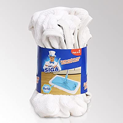 MR. SIGA Large Surface Mop Microfiber Refills, Size 39 x 21cm - Pack of 3