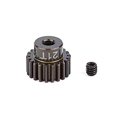 Team Associated 1339 Factory Aluminum 21T 48P 1/8 Shaft Pinion Gear: Toys & Games