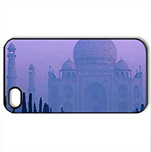 TAJ MAHAL INDIA - Case Cover for iPhone 4 and 4s (Religious Series, Watercolor style, Black)