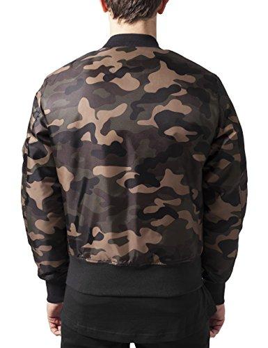 Camo Jacket Urban para Hombre Camo Multicolor Classics Wood Basic Chaqueta Bomber 5O4OZ