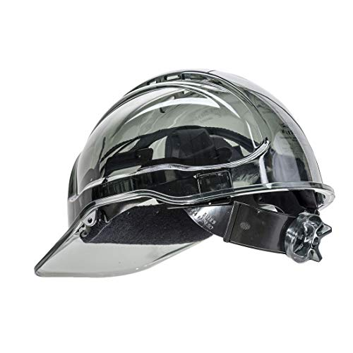 Portwest Peak View Ratchet Vent Helmet Hard Hat Construction Work Protective Wear Hi Vis Cap ANSI C, Smoke from Portwest