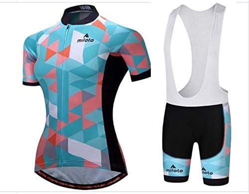 新しい屋外サイクリングスポーツ半袖女性の通気性ジャケットストラップセット