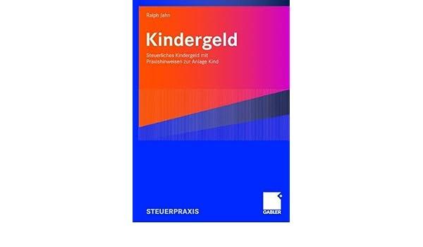 anlage kind kindergeld