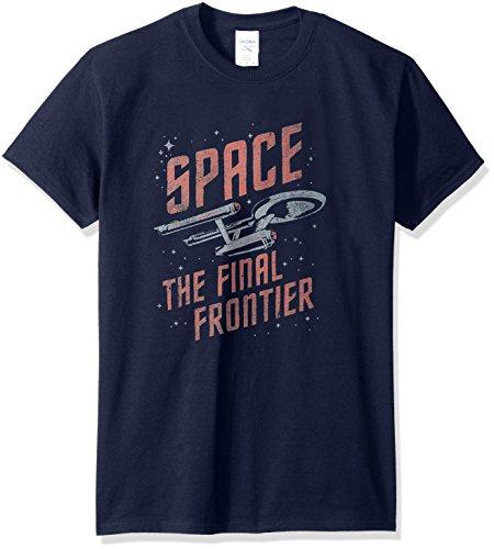 Star Trek/Space Travel-Short Sleeve Adult -Navy-MD