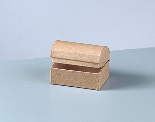 (10 Mini Paper Mache Treasure Chests to Decorate 6x4x4cm   Papier Mache Boxes)