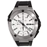 IWC Ingenieur Double Chronograph Silver Dial Rubber Strap Automatic Mens Watch IW386501