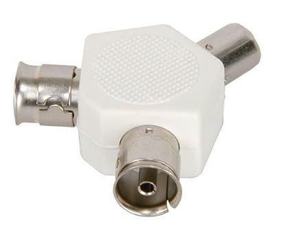 Divisor de cable coaxial para TV (3 vías)