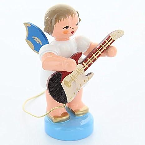 Original diseño de ángel con E-guitarra eléctrica con alas azules pintado a mano en Alemania: Amazon.es: Hogar