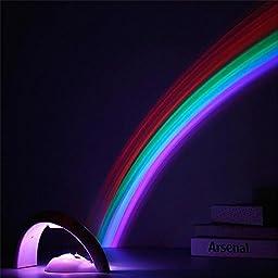 NOPTEG Rainbow Projector Room Night Light LED Color Lamp Magic Romantic Lights for Kids