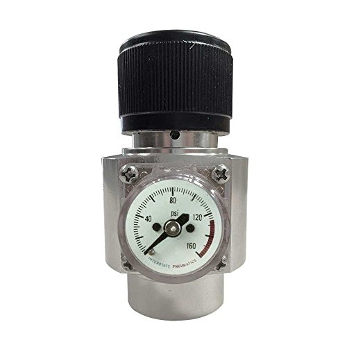 Interstate Pneumatics WRCO2 CO2 Regulator - Solid Aluminum Body 0-125 PSI
