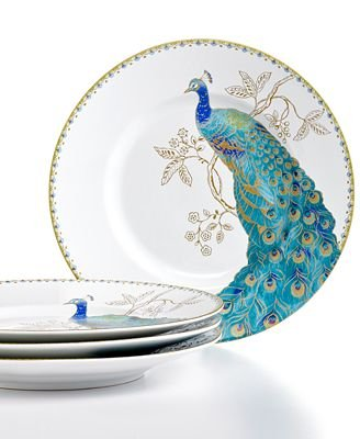 (222 Fifth Peacock Garden Porcelain Dinnerware Collection: 11