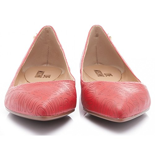 rouge Ballerines rouge Love pour Moschino femme nqHgCxx6wY