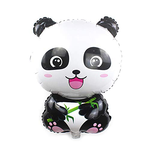 Panda Balloons 27.5 x 19 inches Giant Zoo Animal Balloons Kit for Jungle Safari Animals Theme Birthday Party Decorations Kids Gift Birthday Party Décor, Pack of 5]()