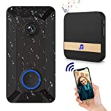 Wireless Video Doorbell Camera with Waterproof, Weatherproof, Lifetime Free Cloud Storage, Push Notification