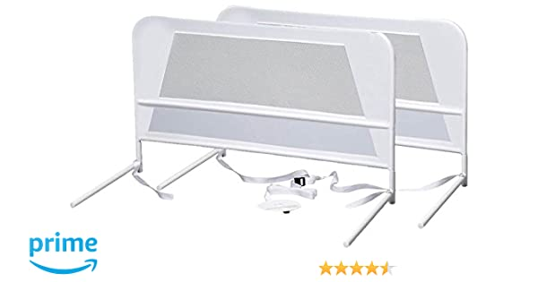 Amazon KidCo 2 Pack Chidrens Mesh Bed Rail White Baby