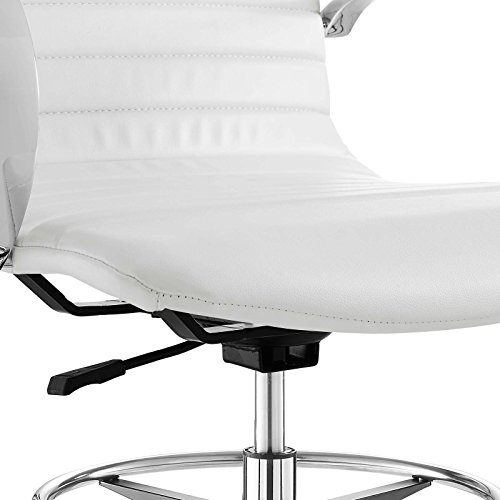 Modway EEI-2863-WHI Groove Ribbed Back, Drafting Chair, White by Modway (Image #8)