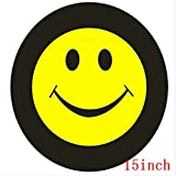 Pure Black 14'', 15'',16'',17'' inch PU Spare Tire Tyre Wheel Valve Cover (1pcs of Pack) (15'')