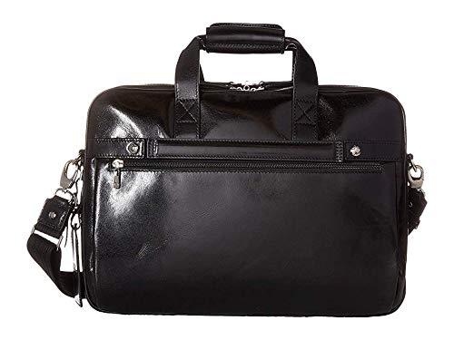 Bosca Leather Bag - Bosca Old Leather Collection - Stringer Bag Laptop Bag Black Leather