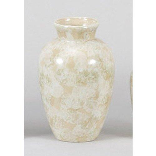 [mkd-944-11-47e] Buddhist marble tone Natsume eye-flower vase 7.0 beige [22 cm] Buddhist instrument treasure Supply tomb Buddhist altar Bon Oshigori