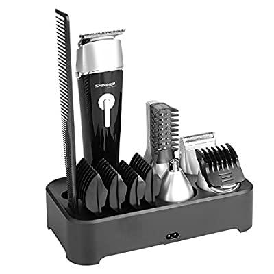 Cheapest Sminiker 5 in 1 Waterproof Man's Grooming Kit Hair Clippers Beard Trimmer Dual Shaver Body Trimmer Nose Hair Trimmer Precision Trimmer Rechargeable by Buysshow - Free Shipping Available
