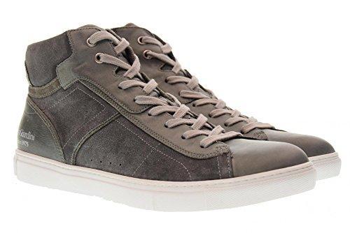 Nero Giardini Scarpe Uomo Sneakers Alte P800272u 214 Grigio Pietra