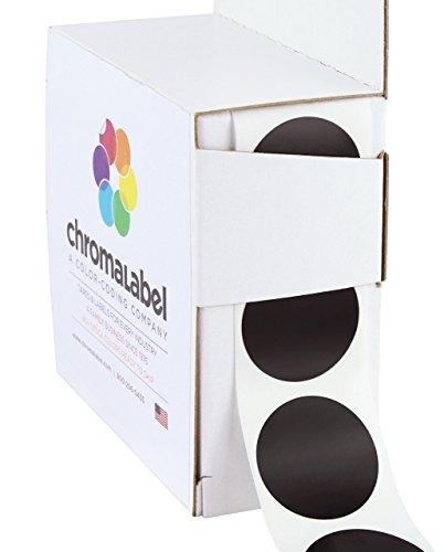 ChromaLabel 1 inch Color-Code Dot Labels | 1,000/Dispenser Box (Black) ()