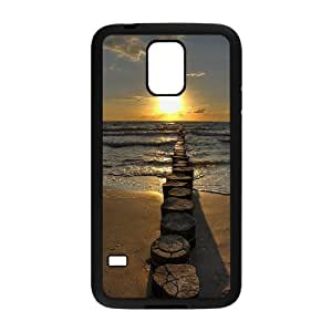Custom AXL369019 Hard Anti-Scratch Phone Case For SamSung Galaxy S5 I9600 Cover Case w/ Sunset by the ocean