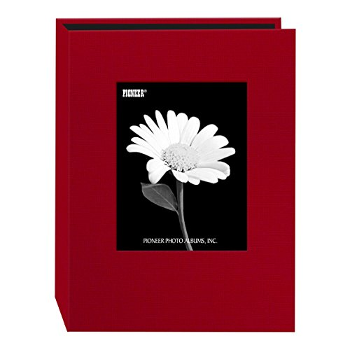 Pioneer Photo 24-Pocket Frame Cover Album for 5 by 7-Inch Prints, Apple Red Fabric (Album Photo Christmas 5x7)