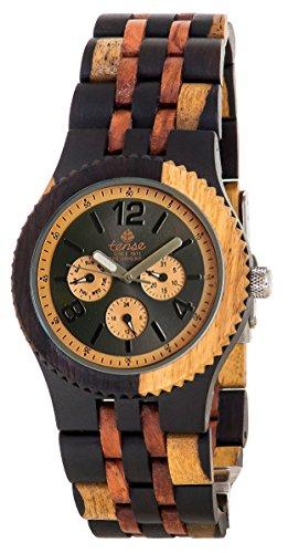 Tense Adventure Vernon Triple Dial Multifunction Inlaid Wood Jumbo Watch J5203IDM