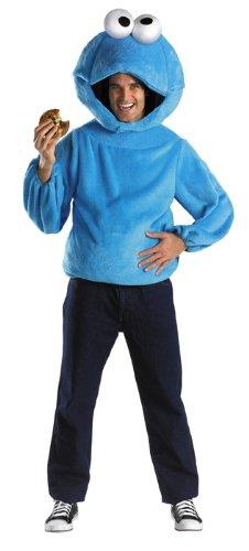 Cookie Man Costume (Disguise Men's Sesame Street Cookie Monster Costume, Blue, Medium)