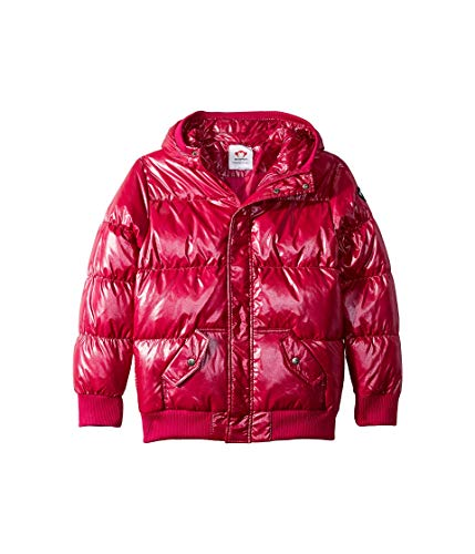 Appaman Kids Baby Girl's Puffy Coat with Hood and Front Pockets (Toddler/Little Kids/Big Kids) Sparkle Fuchsia 14 -
