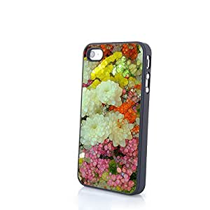 Generic Liveliy Fresh Colorful Flowers Matte Pattern PC Phone Cases fit for Flowery Beautiful iPhone 4/4S Cases