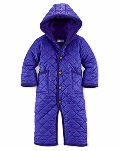 Ralph Lauren Polo Baby Girls Quilted Bunting Snowsuit Vibrant Purple (24 Months)
