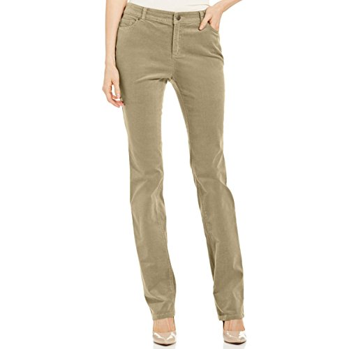 Charter Club Womens Petites Lexington Corduroy Straight Leg Pants Tan 16P (Tan Corduroy Pants)